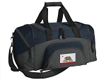 California Flag Small Duffle Bag Navy