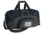 Chicago Flag Small Duffle Bag Navy