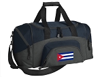 SMALL Cuba Gym Bag Cuban Flag Duffle Navy