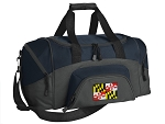 SMALL Maryland Flag Gym Bag Maryland Duffle Navy
