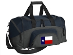 Texas Flag Small Duffle Bag Navy