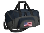 SMALL American Flag Gym Bag USA Flag Duffle Navy