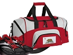California Flag Small Duffle Bag Red