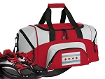 Chicago Flag Small Duffle Bag Red