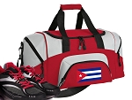 SMALL Cuba Gym Bag Cuban Flag Duffle Red