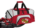 SMALL Maryland Flag Gym Bag Maryland Duffle Red
