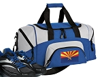 SMALL Arizona Flag Gym Bag Arizona Duffle Blue
