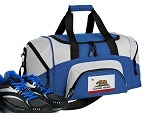California Flag Small Duffle Bag Royal