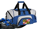 SMALL Maryland Flag Gym Bag Maryland Duffle Blue