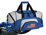 SMALL American Flag Gym Bag USA Flag Duffle Blue