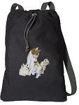 Cute Cats Cotton Drawstring Bag Backpacks