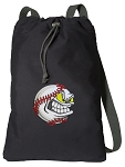 Baseball Cotton Drawstring Bag Backpacks