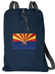 Arizona Cotton Drawstring Bag Backpacks RICH NAVY