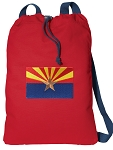 Arizona Cotton Drawstring Bag Backpacks COOL RED