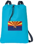 Arizona Cotton Drawstring Bag Backpacks COOL BLUE