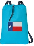 Texas Flag Cotton Drawstring Bag Backpacks COOL BLUE