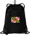Maryland Drawstring Backpack-MESH & MICROFIBER