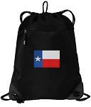 Texas Flag Drawstring Backpack-MESH & MICROFIBER