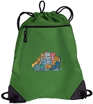 Crazy Cat Drawstring Backpack Mesh and Microfiber