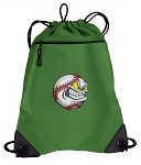 Baseball Drawstring Backpack Mesh and Microfiber