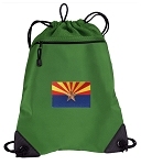 Arizona Drawstring Backpack Mesh and Microfiber