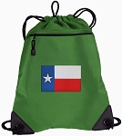 Texas Flag Drawstring Backpack Mesh and Microfiber