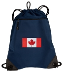 Canada Drawstring Backpack-MESH & MICROFIBER Navy