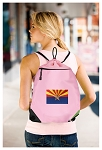 Arizona Drawstring Bag Mesh and Microfiber Pink