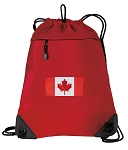Canada Drawstring Backpack MESH & MICROFIBER Red
