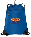 Arizona Drawstring Backpack MESH & MICROFIBER Blue