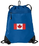 Canada Drawstring Backpack MESH & MICROFIBER Blue