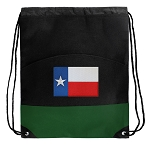 Texas Flag Drawstring Backpack Bags Green
