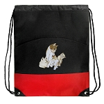Cute Cats Drawstring Backpack Bag Red