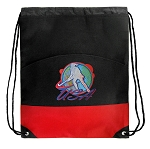 Field Hockey Drawstring Backpack Bag Red