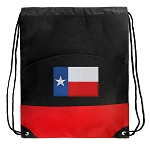 Texas Flag Drawstring Backpack Bag Red