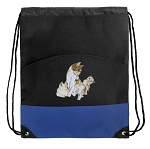 Cute Cats Drawstring Backpack Bag Blue
