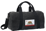 California Flag Duffel RICH COTTON Washed Finish Black