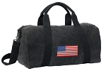 American Flag Duffel RICH COTTON Washed Finish Black