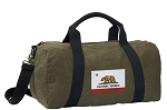 California Flag Duffel RICH COTTON Washed Finish Khaki