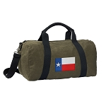 Texas Flag Duffel RICH COTTON Washed Finish Khaki
