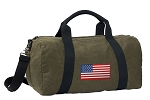 American Flag Duffel RICH COTTON Washed Finish Khaki