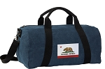 California Flag Duffel RICH COTTON Washed Finish Blue