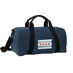 Chicago Flag Duffel RICH COTTON Washed Finish Blue