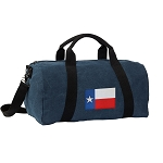 Texas Flag Duffel RICH COTTON Washed Finish Blue