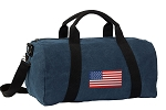 American Flag Duffel RICH COTTON Washed Finish Blue
