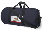 California Flag Blue Duffel Bags