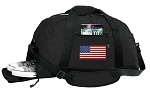 American Flag Duffel Bag with Shoe Pocket