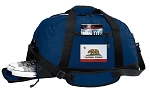 California Flag Duffle Bag w/ Shoe Pocket