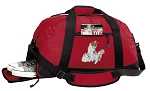 Cute Cats Duffel Bag with Shoe Pocket Red