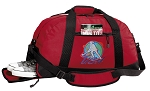 Field Hockey Duffel Bag with Shoe Pocket Red